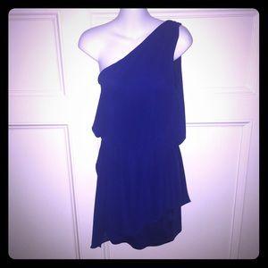 🆕NWT 2B BeBe ROYAL BLUE ASYMMETRICAL DRESS - S/M